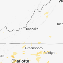 Regional Hail Map for Roanoke, VA - Wednesday, August 8, 2018