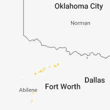 Regional Hail Map for Wichita Falls, TX - Wednesday, August 8, 2018