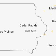 Regional Hail Map for Cedar Rapids, IA - Thursday, August 9, 2018