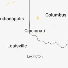 Regional Hail Map for Cincinnati, OH - Friday, August 10, 2018