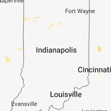 Regional Hail Map for Indianapolis, IN - Friday, August 10, 2018