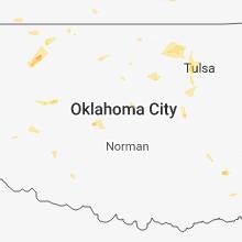 Regional Hail Map for Oklahoma City, OK - Friday, August 10, 2018