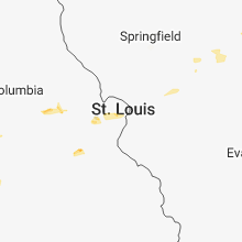 Regional Hail Map for Saint Louis, MO - Friday, August 10, 2018