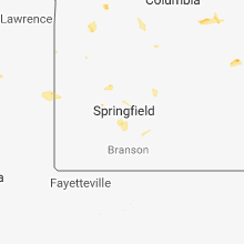 Regional Hail Map for Springfield, MO - Friday, August 10, 2018