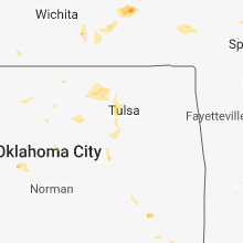 Regional Hail Map for Tulsa, OK - Friday, August 10, 2018