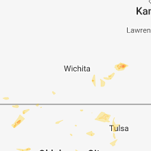 Regional Hail Map for Wichita, KS - Friday, August 10, 2018