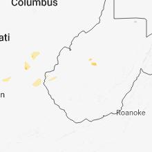 Regional Hail Map for Charleston, WV - Saturday, August 11, 2018
