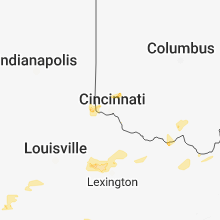 Regional Hail Map for Cincinnati, OH - Saturday, August 11, 2018