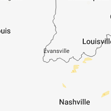 Regional Hail Map for Evansville, IN - Saturday, August 11, 2018