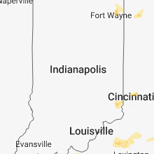 Regional Hail Map for Indianapolis, IN - Saturday, August 11, 2018