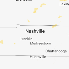 Regional Hail Map for Nashville, TN - Saturday, August 11, 2018