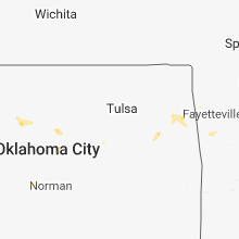 Regional Hail Map for Tulsa, OK - Saturday, August 11, 2018