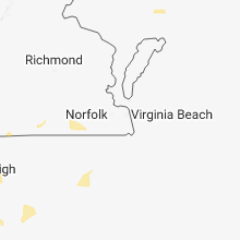Regional Hail Map for Virginia Beach, VA - Saturday, August 11, 2018