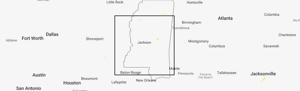 Hail Map for Jackson, MS - Sunday, August 12, 2018