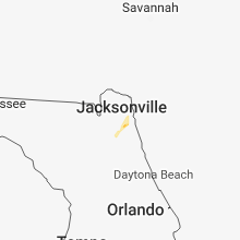 Regional Hail Map for Jacksonville, FL - Sunday, August 12, 2018