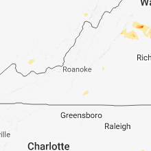 Regional Hail Map for Roanoke, VA - Sunday, August 12, 2018