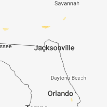 Regional Hail Map for Jacksonville, FL - Monday, August 13, 2018