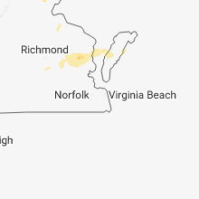 Regional Hail Map for Virginia Beach, VA - Monday, August 13, 2018