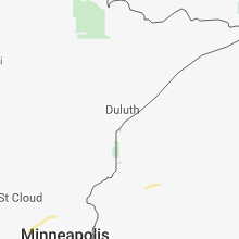 Regional Hail Map for Duluth, MN - Tuesday, August 14, 2018
