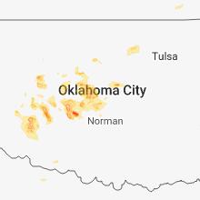 Regional Hail Map for Oklahoma City, OK - Tuesday, August 14, 2018