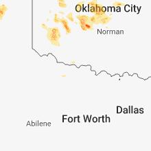 Regional Hail Map for Wichita Falls, TX - Tuesday, August 14, 2018