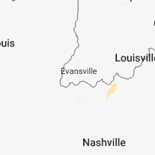Hail Map for evansville-in 2018-08-15