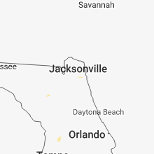 Regional Hail Map for Jacksonville, FL - Wednesday, August 15, 2018