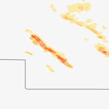 Regional Hail Map for North Platte, NE - Wednesday, August 15, 2018