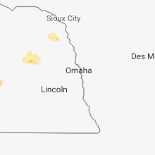 Regional Hail Map for Omaha, NE - Wednesday, August 15, 2018