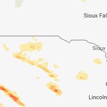 Regional Hail Map for Oneill, NE - Wednesday, August 15, 2018