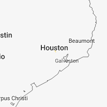Regional Hail Map for Houston, TX - Thursday, August 16, 2018