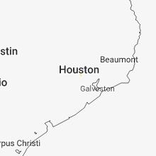 Regional Hail Map for Houston, TX - Thursday, August 16, 2018