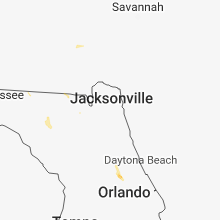Regional Hail Map for Jacksonville, FL - Thursday, August 16, 2018