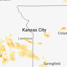 Regional Hail Map for Kansas City, MO - Thursday, August 16, 2018