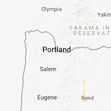 Regional Hail Map for Portland, OR - Thursday, August 16, 2018