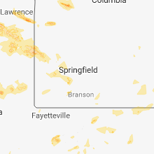 Regional Hail Map for Springfield, MO - Thursday, August 16, 2018