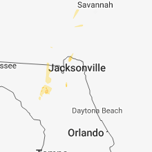 Regional Hail Map for Jacksonville, FL - Friday, August 17, 2018