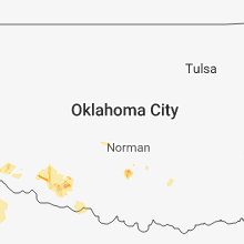 Regional Hail Map for Oklahoma City, OK - Friday, August 17, 2018