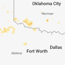 Regional Hail Map for Wichita Falls, TX - Friday, August 17, 2018
