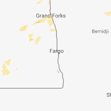 Regional Hail Map for Fargo, ND - Saturday, August 18, 2018