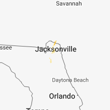 Regional Hail Map for Jacksonville, FL - Saturday, August 18, 2018