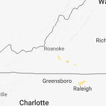 Regional Hail Map for Roanoke, VA - Sunday, August 19, 2018