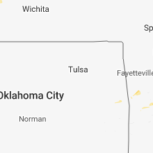 Regional Hail Map for Tulsa, OK - Sunday, August 19, 2018