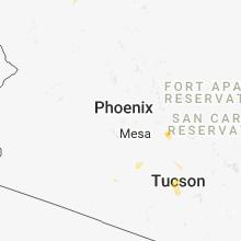 Regional Hail Map for Phoenix, AZ - Wednesday, August 22, 2018