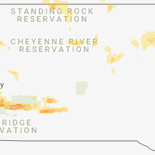 Regional Hail Map for Pierre, SD - Thursday, August 23, 2018