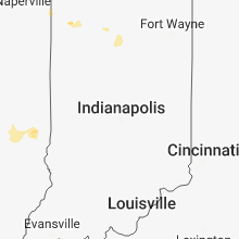 Regional Hail Map for Indianapolis, IN - Friday, August 24, 2018