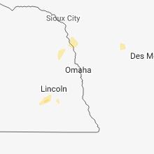 Regional Hail Map for Omaha, NE - Friday, August 24, 2018