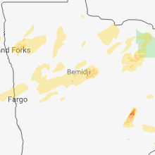 Regional Hail Map for Bemidji, MN - Sunday, August 26, 2018