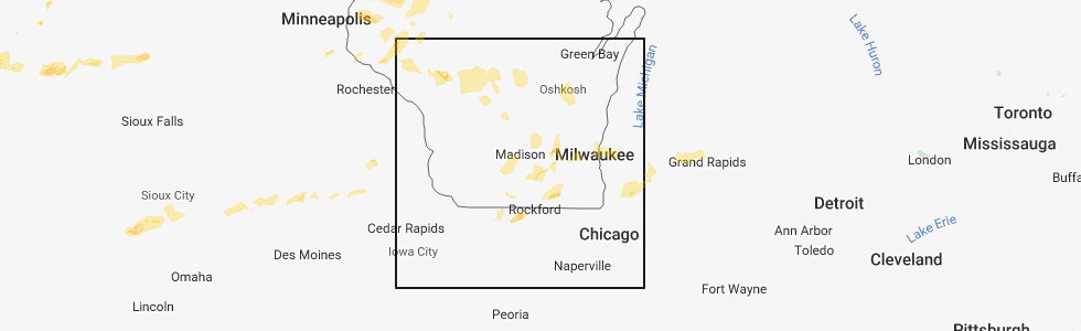 Hail Map for Madison, WI - Sunday, August 26, 2018