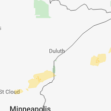 Regional Hail Map for Duluth, MN - Monday, August 27, 2018
